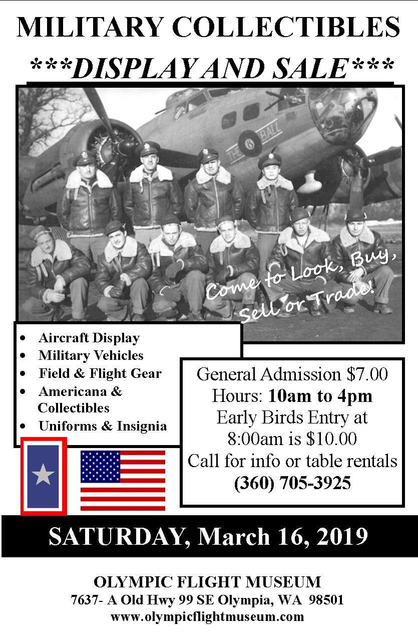 Militaria Show Spring 2019 flyer
